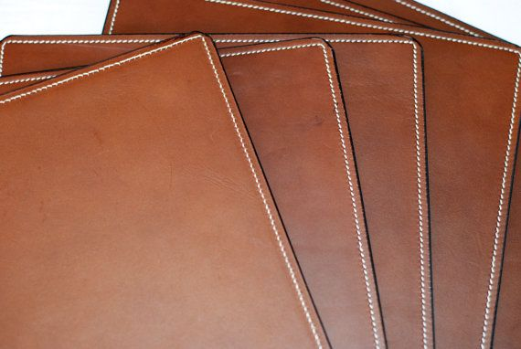Super Quality Genuine Leather Placemat Etsy Placemats Personalised Placemats Leather Diy