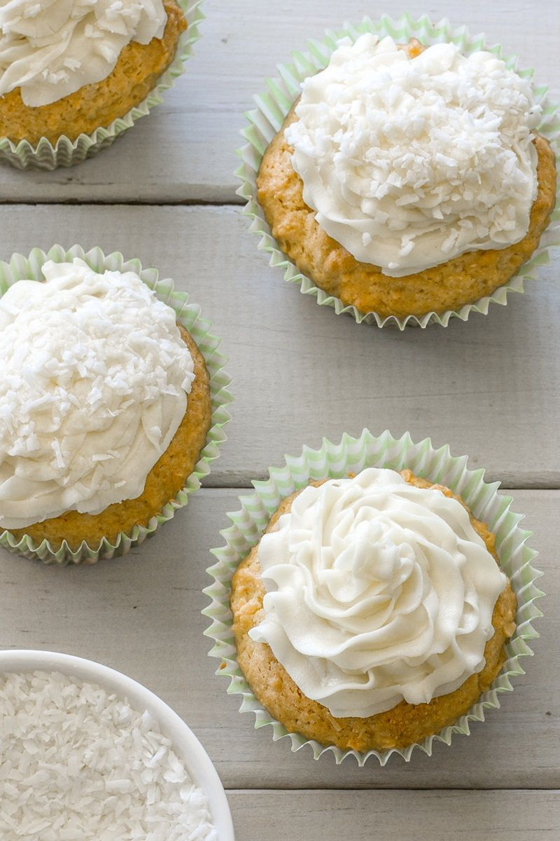 Dairy Free Coconut Cupcakes Recipe With Vegan Coconut Oil Frosting Recipe In 2021 Coconut Cupcake Recipes Coconut Cupcakes Dairy Free Cupcakes