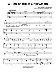 A Kiss To Build A Dream On With Images Digital Sheet Music