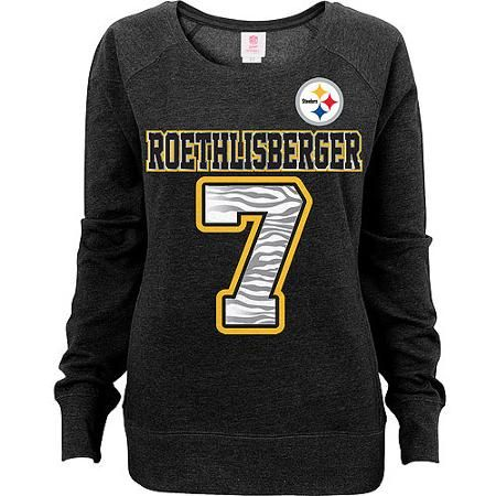 hot sale online 6abb6 87577 NFL Juniors Pittsburgh Steelers Roethlisberger Scoop Neck ...