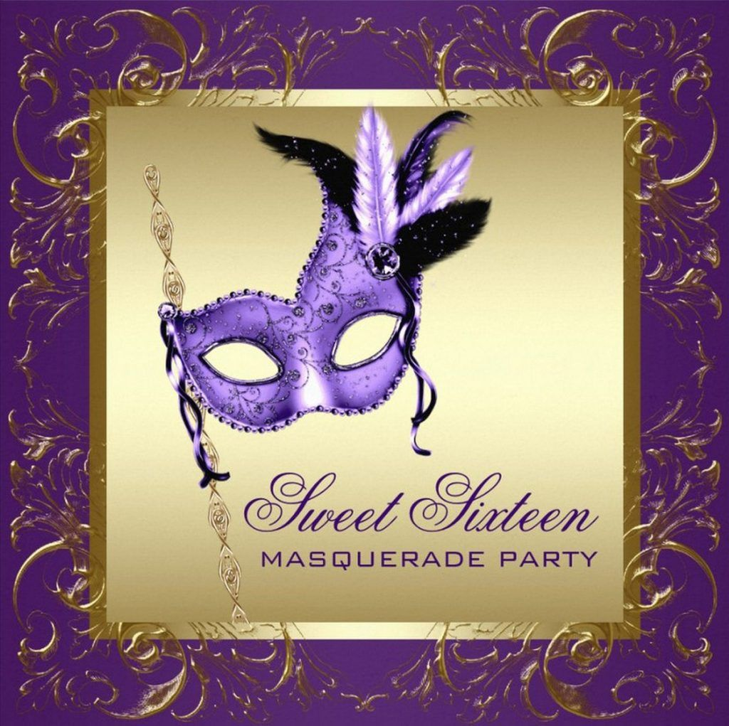 graphic about Free Printable Sweet 16 Invitations named Masquerade Social gathering Invitation for Adorable 16 Coolest
