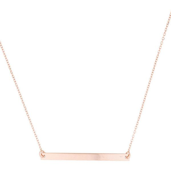 Pre-owned Bar Necklace ($375) ❤ liked on Polyvore featuring jewelry, necklaces, pink, geometric necklaces, pink gold necklace, pink pendant, rose gold bar necklace and 14k rose gold necklace