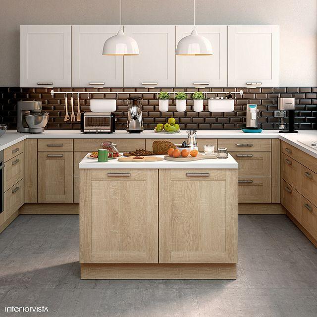 Black Metro Tiles - #interiorvista #interiorvistauk #kitchen #kitchendesign #CGI #CGIimage #home #dreamhome #spacious