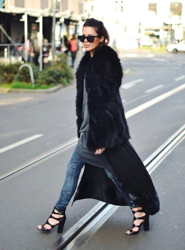 November Lingerie Black Morning Gown Kimono