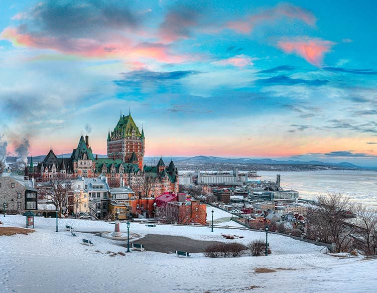 Best Luxury Hotel In Old Quebec City Fairmont Le Chateau Frontenac Quebec City Winter Quebec City City Resort