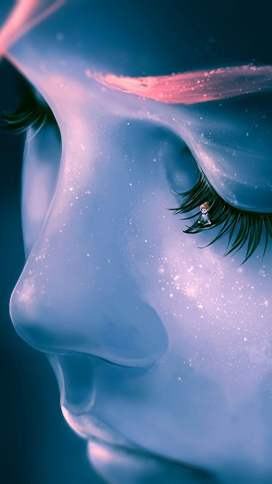 Eyes Eyelashes Sleep Dreams Background Dream Background Art Wallpaper Digital Portrait Art