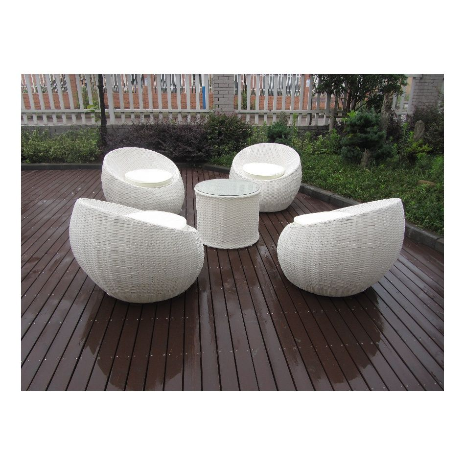 Rattan Egg Chair Set Patio Furniture Outdoor Rattan Egg Bistro Used Cafe Table Chair