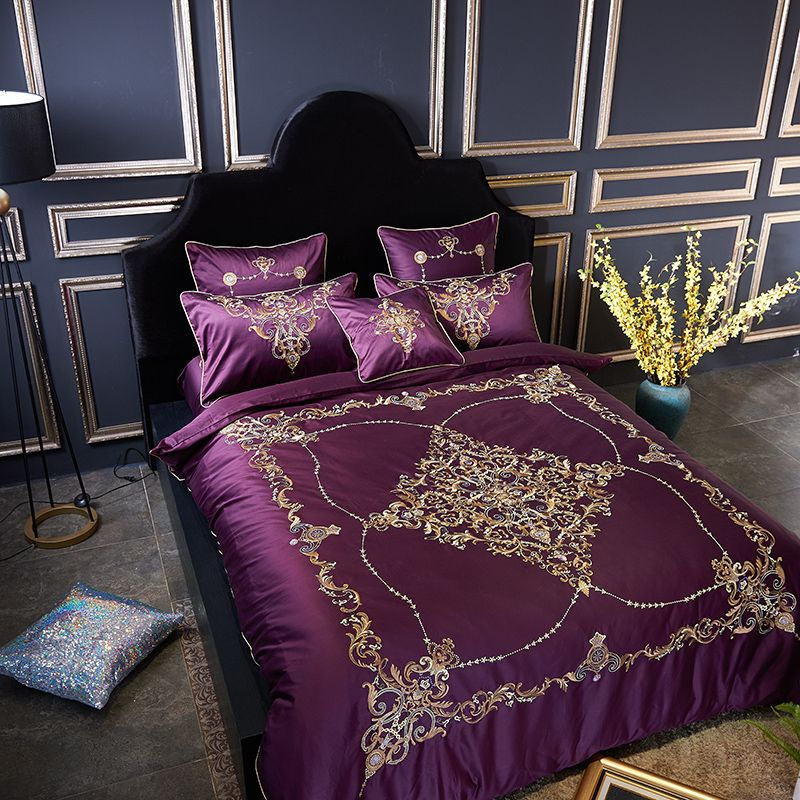 Best Purple Blue Luxury Mandala Boho Bedding Set Egyptian 640 x 480