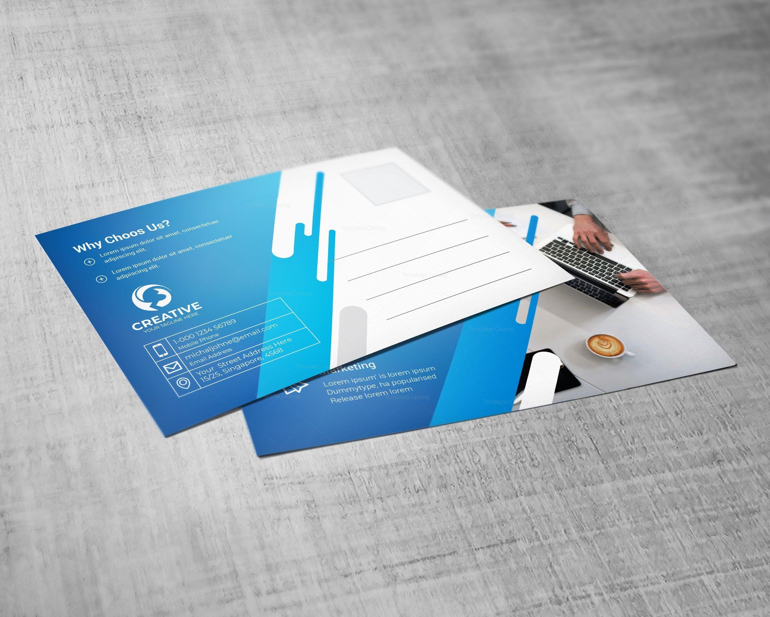 Creative Professional Postcard Design Template In 2020 Postcard