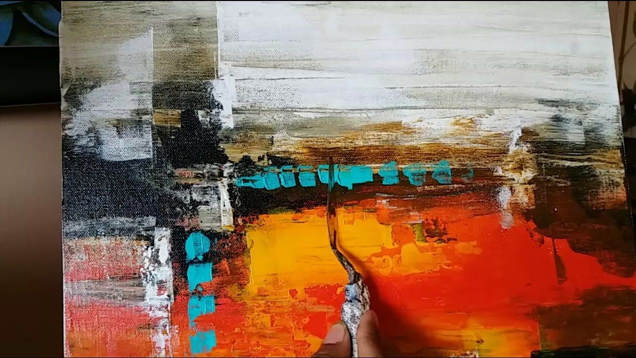 Aprender A Pintar Cuadros Modernos Acrylic Abstract Painting Palette Knife Demonstration Videos
