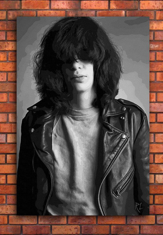 Print Art POSTER CANVAS Joey Ramone of The Ramones