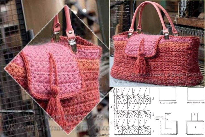 12 Encantadores Bolsos en Crochet con Patrones - Manualidades Y ...
