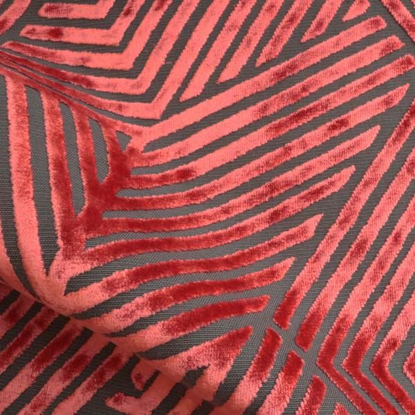 Aurora - Geometric Burnout Velvet Upholstery Fabric by the Yard - Available in 13 Colors #velvetupholsteryfabric