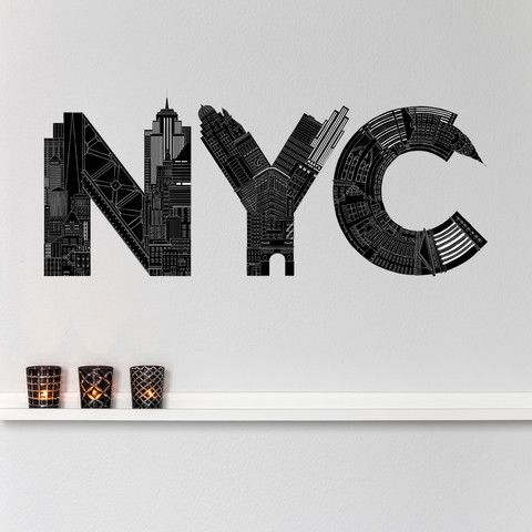 NYC Decal, $56, now featured on Fab.