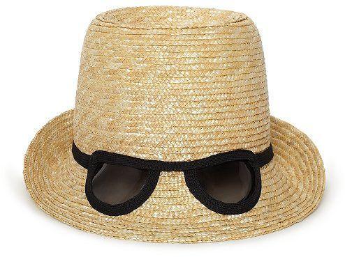 Dunes Lane Straw Cat Eye Sunglasses Hat
