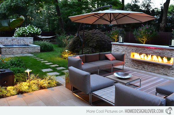 15 Backyard Landscaping Ideas Home Design Lover Small Backyard Landscaping Outdoor Fireplace Designs Backyard Patio