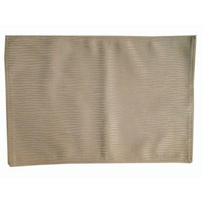 Textiles Plus Inc. Wave Wrinkle Quilt Placemat Color: Taupe