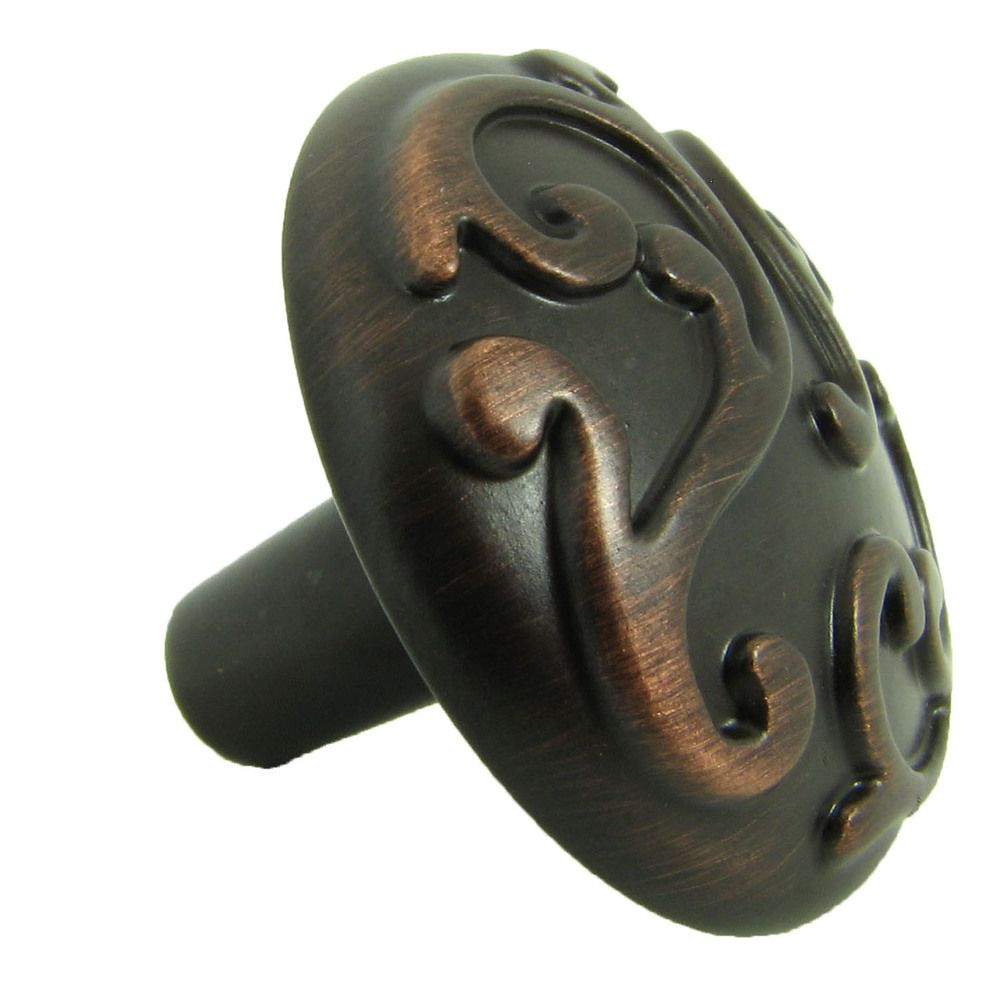 Stone Mill Hardware Oil Rubbed Bronze Ivy Cabinet Knobs (Pack of ...