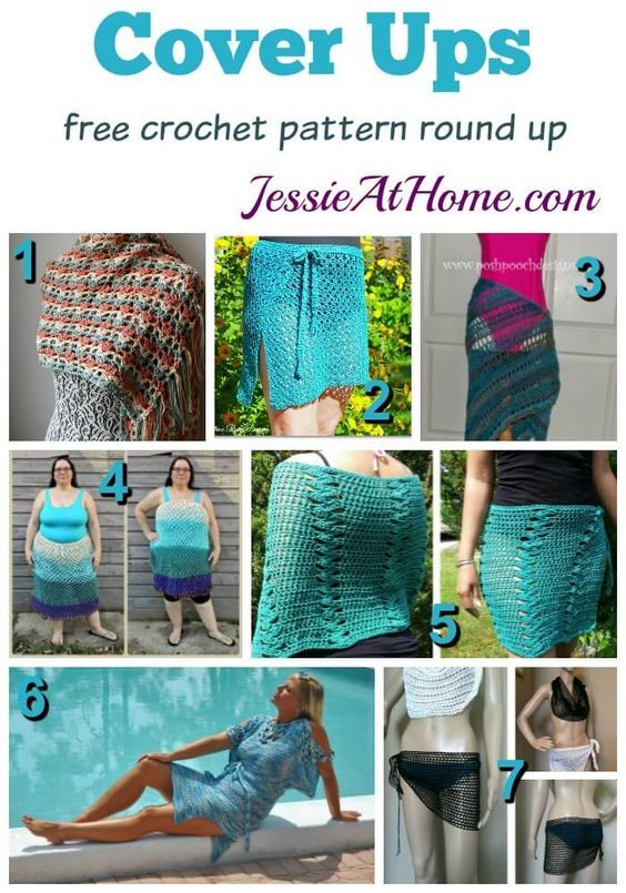 Free Crochet Cover-up patterns | Free crochet, Jessie and Crochet