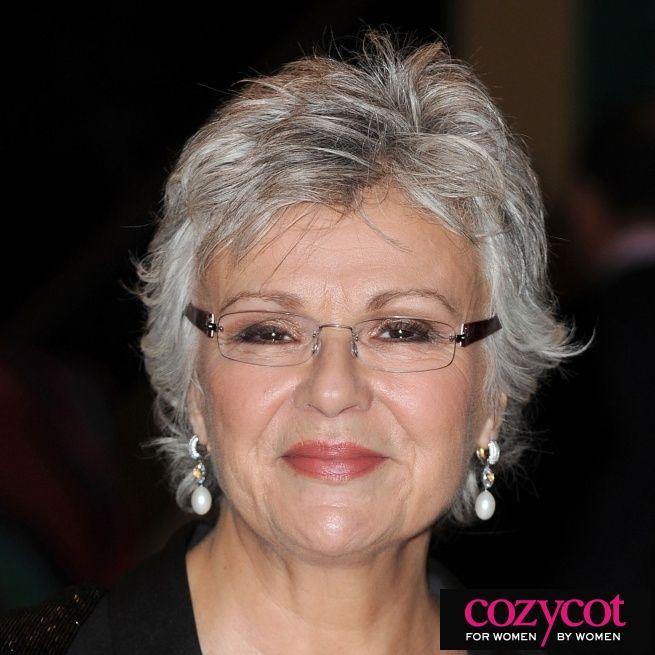 Color Eyeglass Frames Gray Hair : JULIE WALTERS grey and beautiful a real natural Gray ...