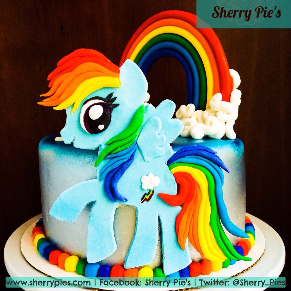 Rainbow dash cake ideas for sophia pinterest for Rainbow dash cake template