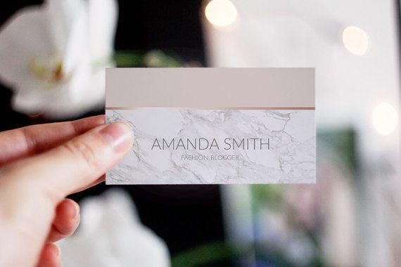 Rose Gold Marble Business Card Business Card di AYAKAstudio