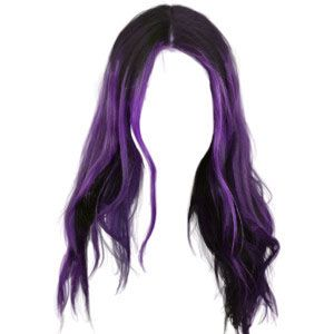 Purple Hair Wig Polyvore Moodboard Filler Hair Png Hair Images Hair Styles