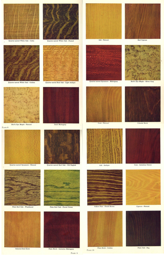 Early 1900 Home Design: Woodwork Stain Options From 1915 House Interior Woodwork