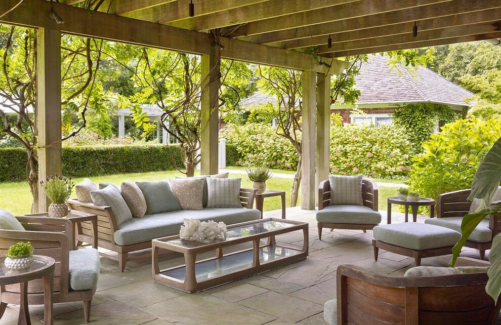 Beautiful Living Room Outdoor, House ın Hampton