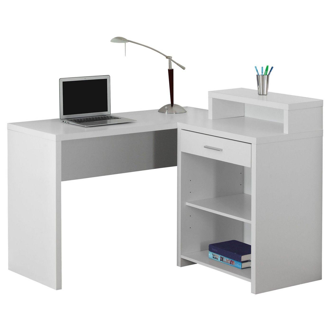 Computer desk with corner storage white everyroom image of