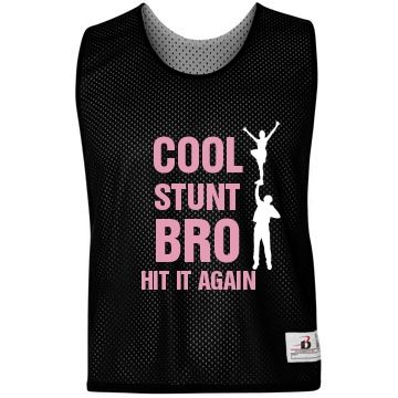 Cool Stunt Bro Pinnie Badger Sports Customized Girl And