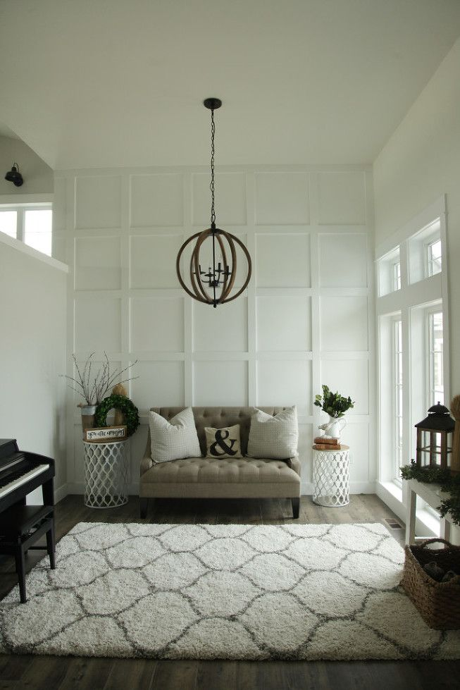 Classic And Clean Living Room Modern Rustic Orb ChandelierWhite