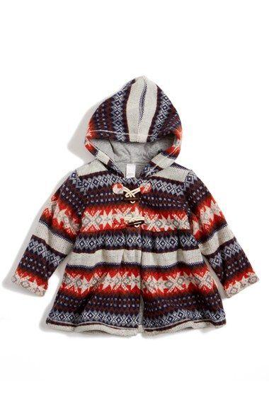 Tucker + Tate Fair Isle Hooded Jacket (Baby Girls) | Nordstrom ...