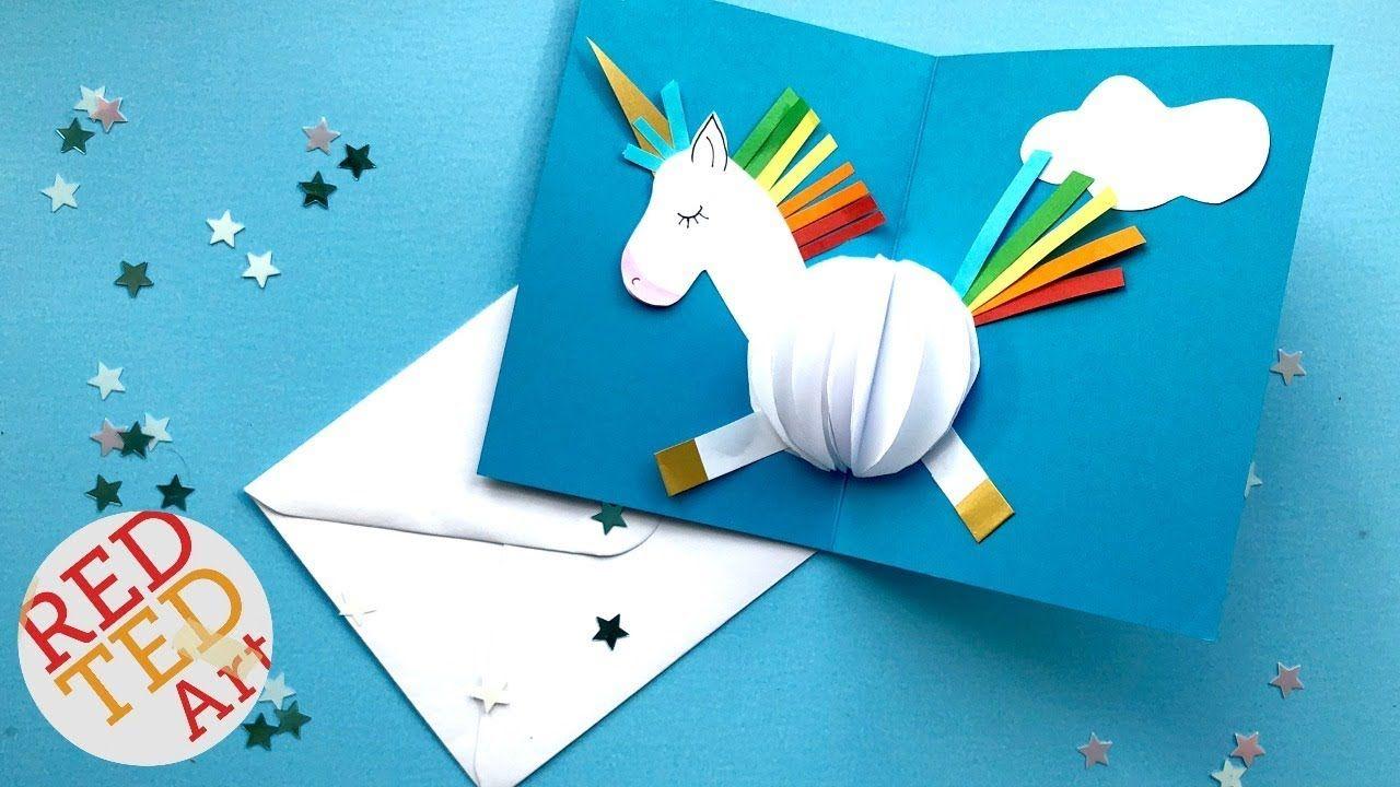Good Pop Up Cards Making Ideas Part - 14: Pop Up UNICORN DIY Card Easy Card Making Ideas