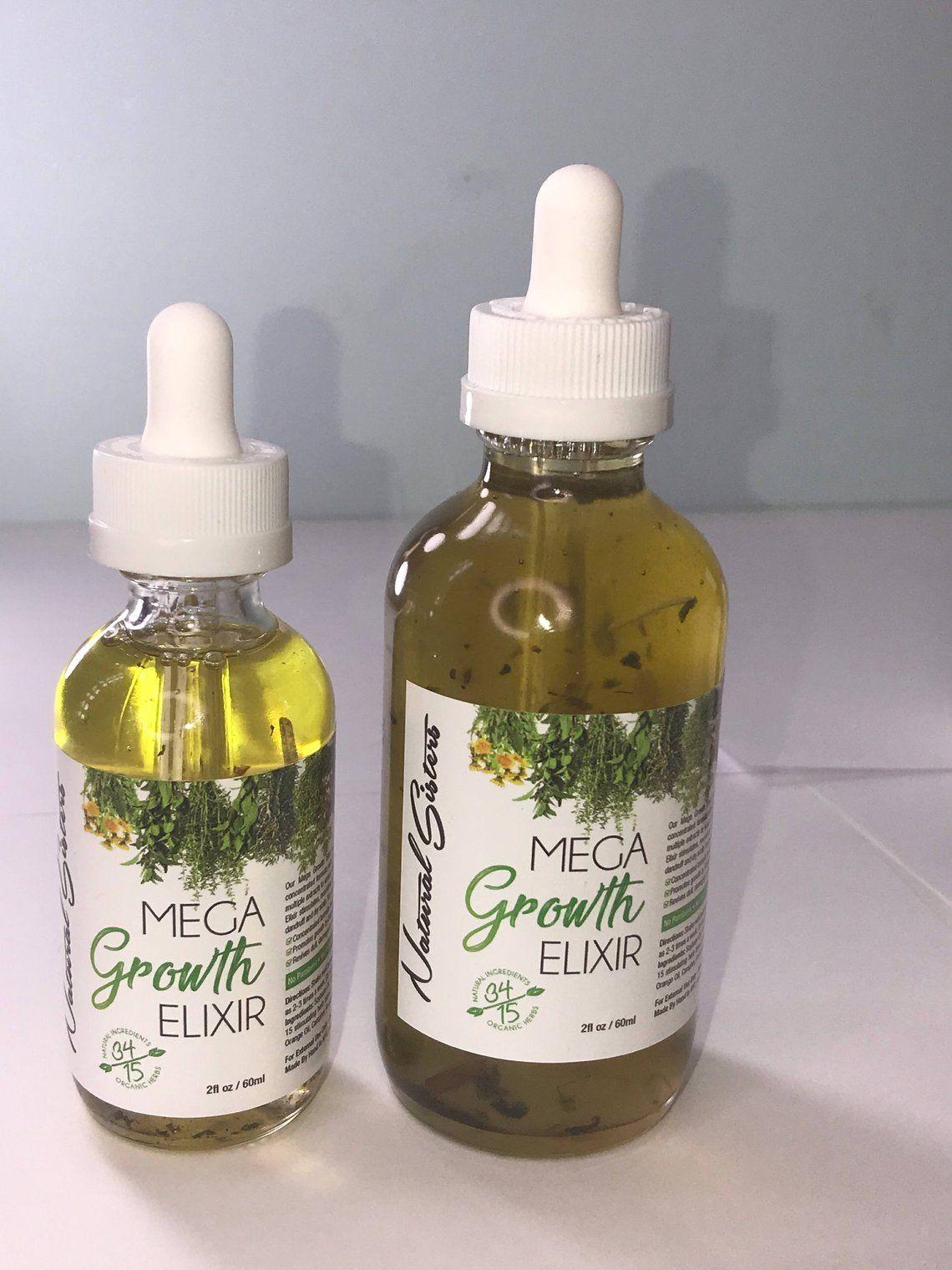 Mega Growth Hair Elixir Oil Handmade alopecia Hair Growth