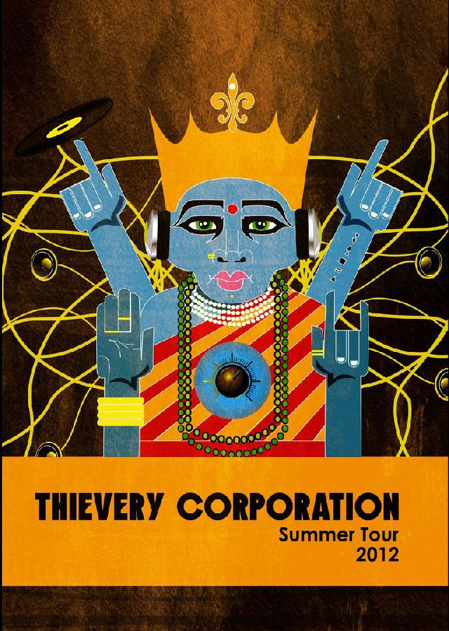 """Shivani Raithatha's design """"Goddess of Cultural Sounds"""" will be the poster for the Thievery Corporation 2012 summer tour"""