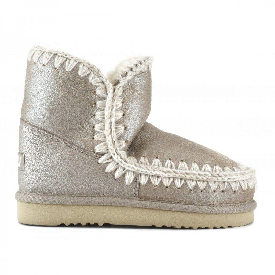cb2862277a3 mou eskimo 18 cm boots stone metallic  mou  boots  fashion  winterboots