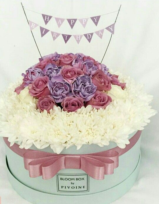 Fine Flower Box For Ts Hostess T Birthday Cake Flowers Flower Funny Birthday Cards Online Hetedamsfinfo