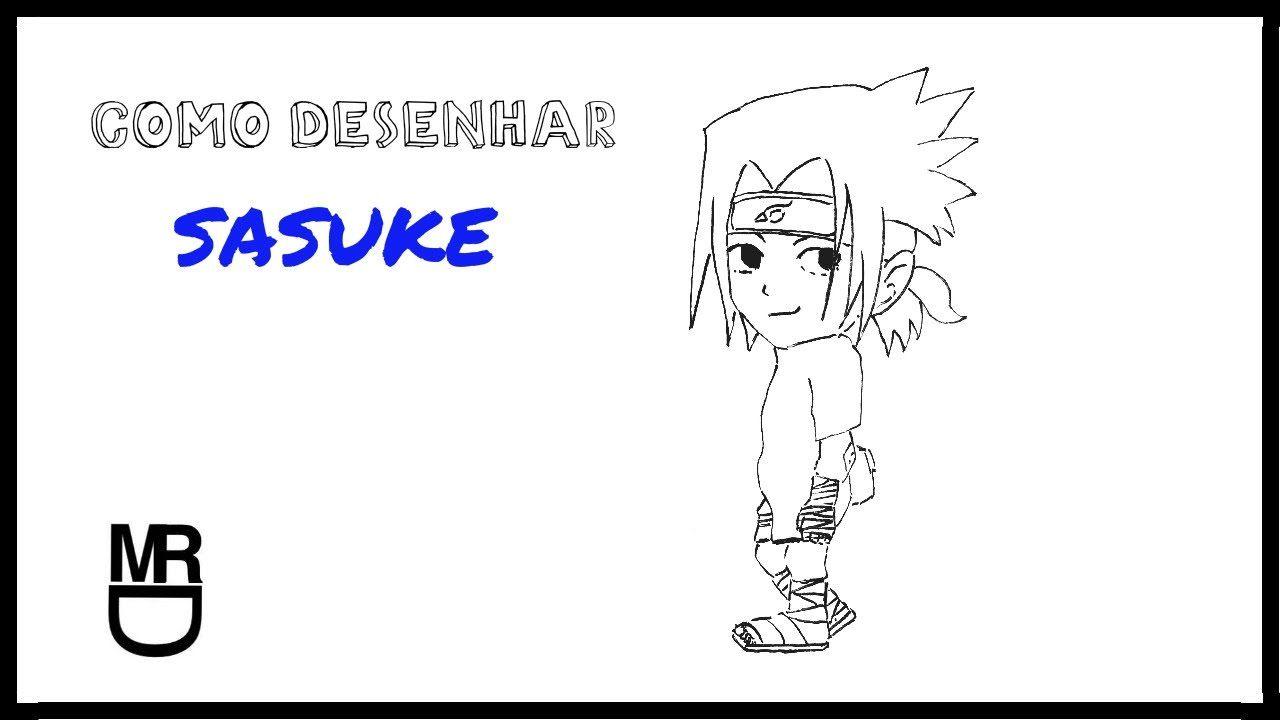 Como desenhar o Sasuke Chibi (Naruto)