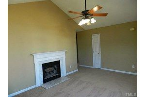 Wonderful fireplace in this home! Fresh paint & new carpets, ready for move in!! Willow Springs, NC