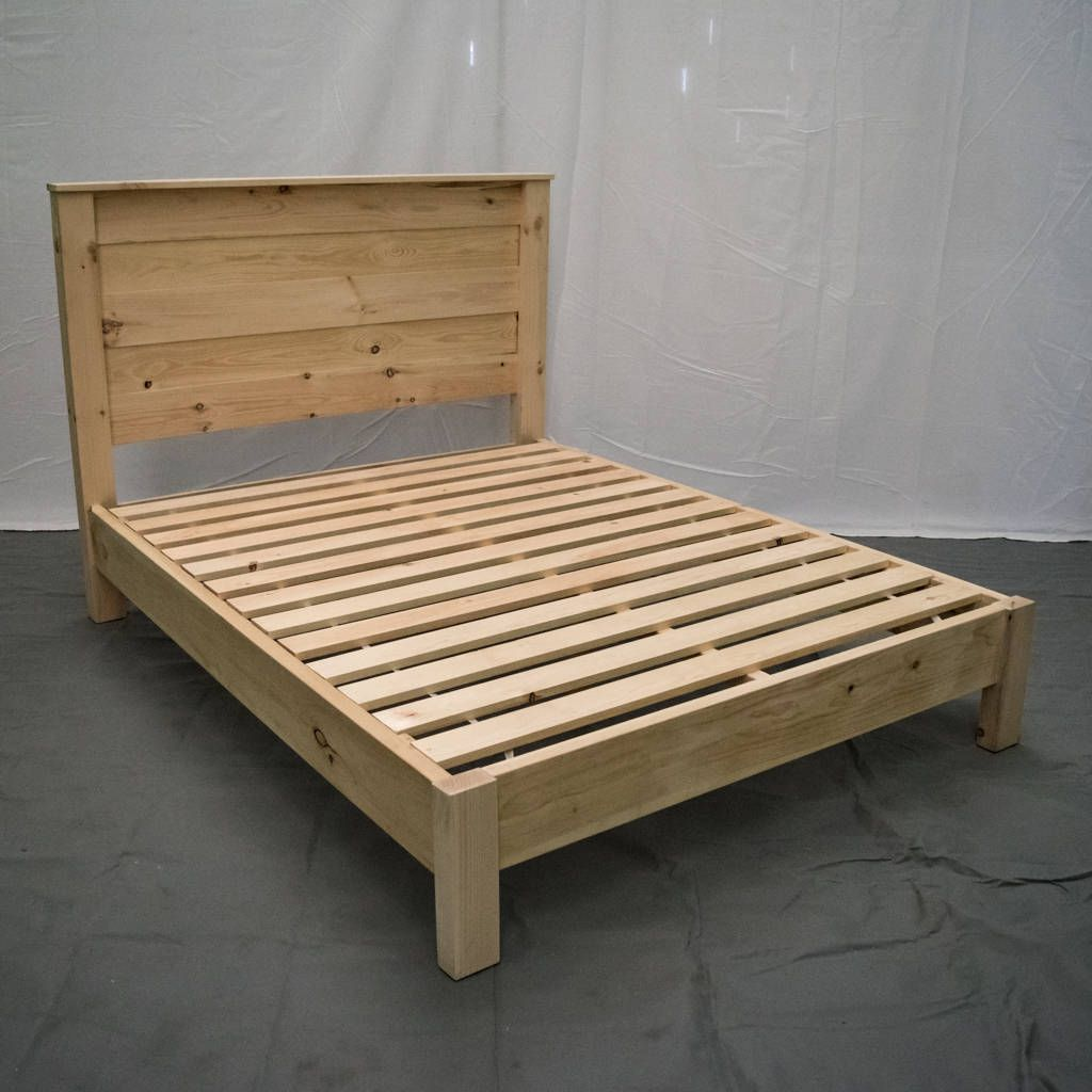 Unfinished Farmhouse Platform Bed W Headboard Traditional Platform