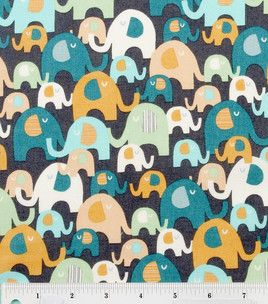 Elephant Splash Fabric