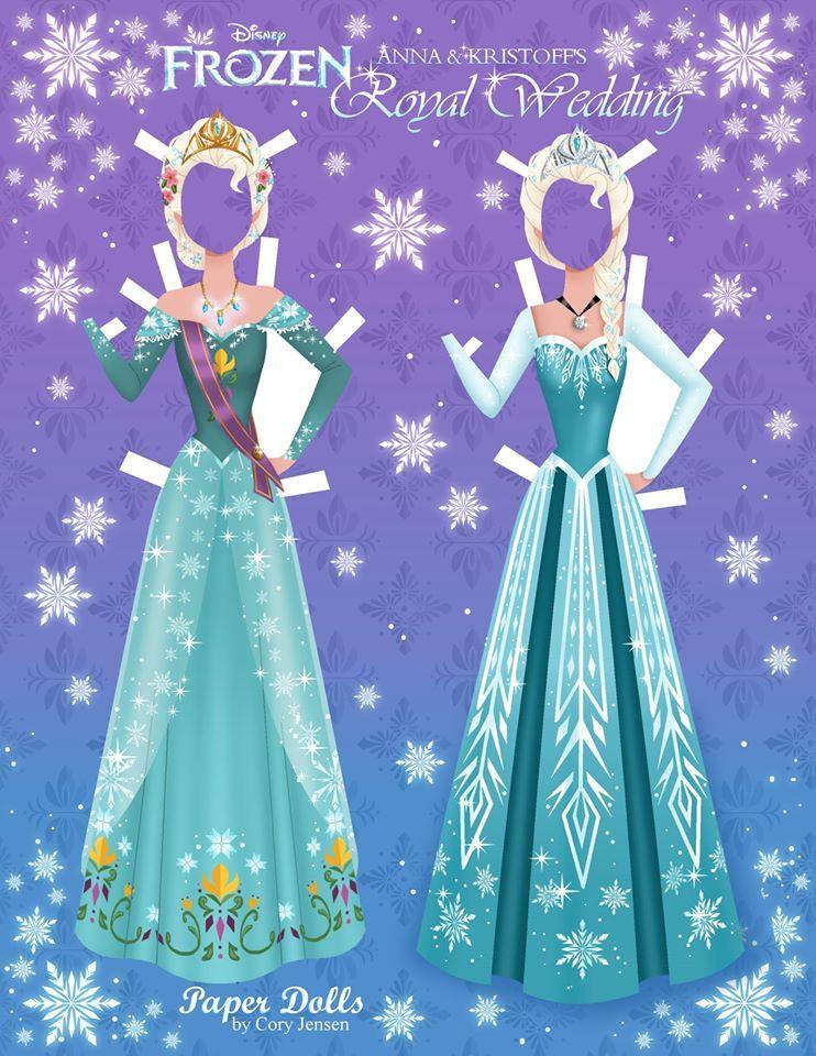 Get These Disney Inspired Frozen Paper Dolls - Free | Etiquetas para ...