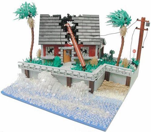 Lego Water Hurricane Irene By Blake Baer Lego Buildings Lego