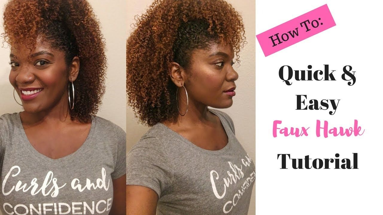 How to quick u easy faux hawk on natural hair tutorial