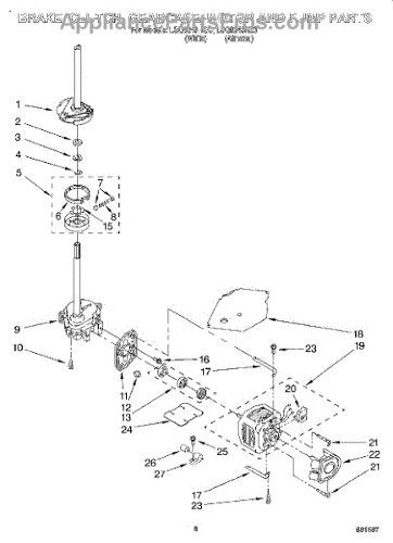 Acople Motor Lavadora Whirlpool 285753