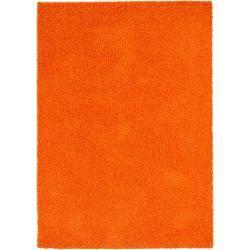Photo of benuta Hochflor Shaggyteppich Swirls Orange 80×150 cm – Bettvorleger für Schlafzimmer benuta