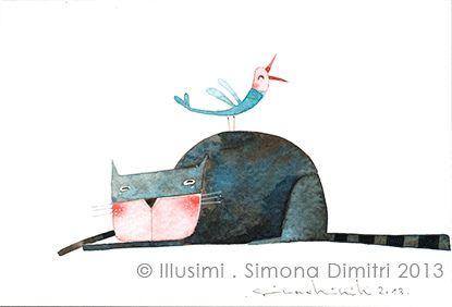 A new post greeting card illustration cat illustrators and a new post greeting card simona dimitri m4hsunfo
