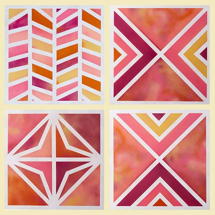 Painting Ideas With Tape: Colors Swirl And Blend In Complex Patterns On These