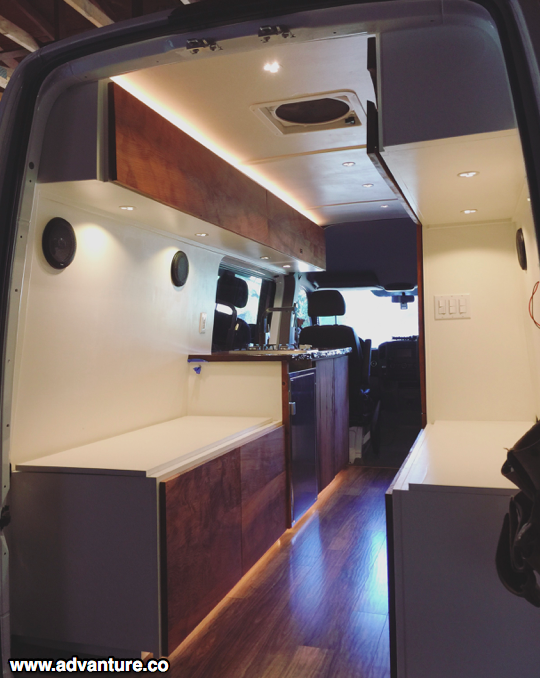 How About That Led Strip Lighting Van Conversion Designs Camper Van Conversion Diy Van Life